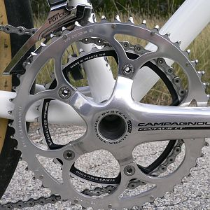 Campy 59T with Specialties TA Nerius 38T Chainrings